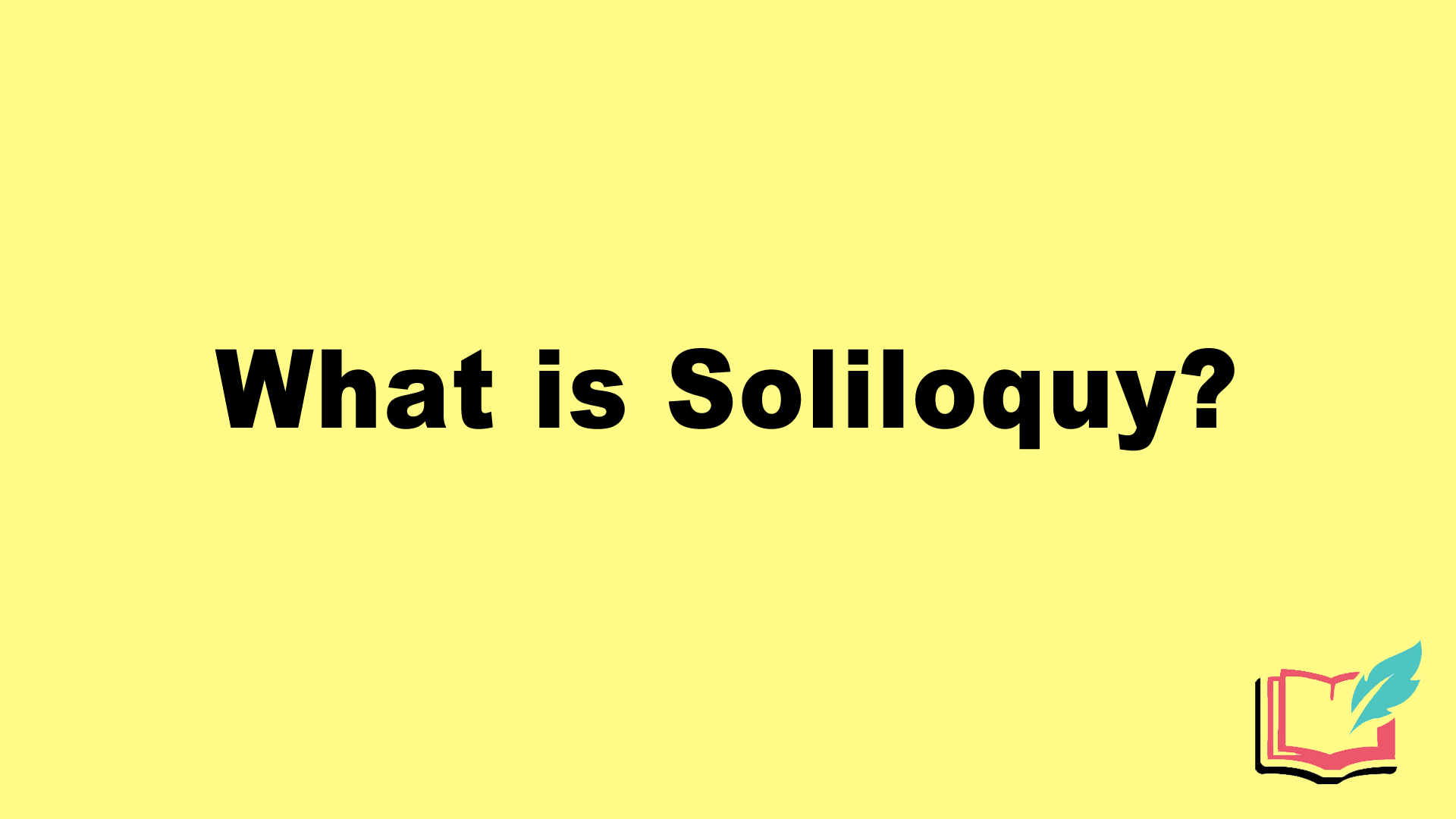 soliloquy as a literary term