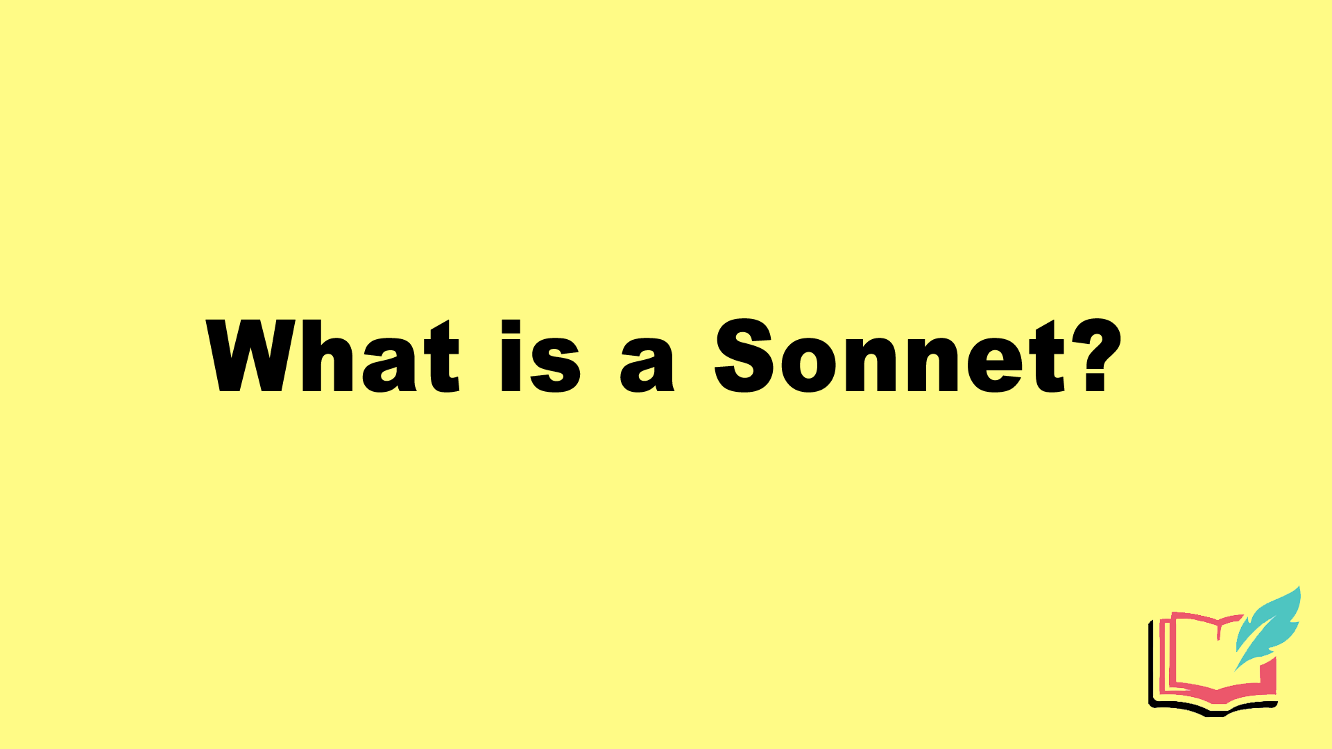 what is a sonnet literary term