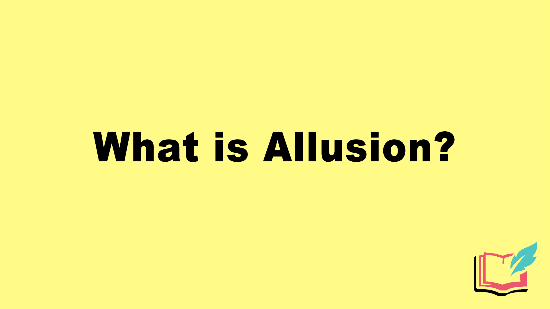 what is allusion in literature