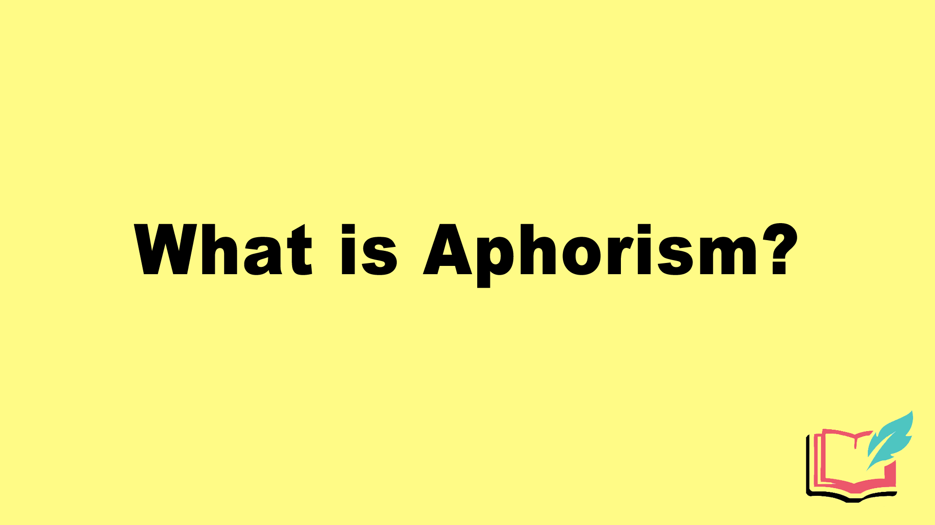 what is aphorism literary term