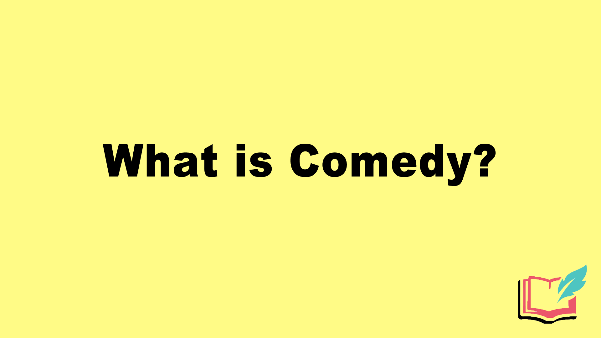 what is comedy in literature