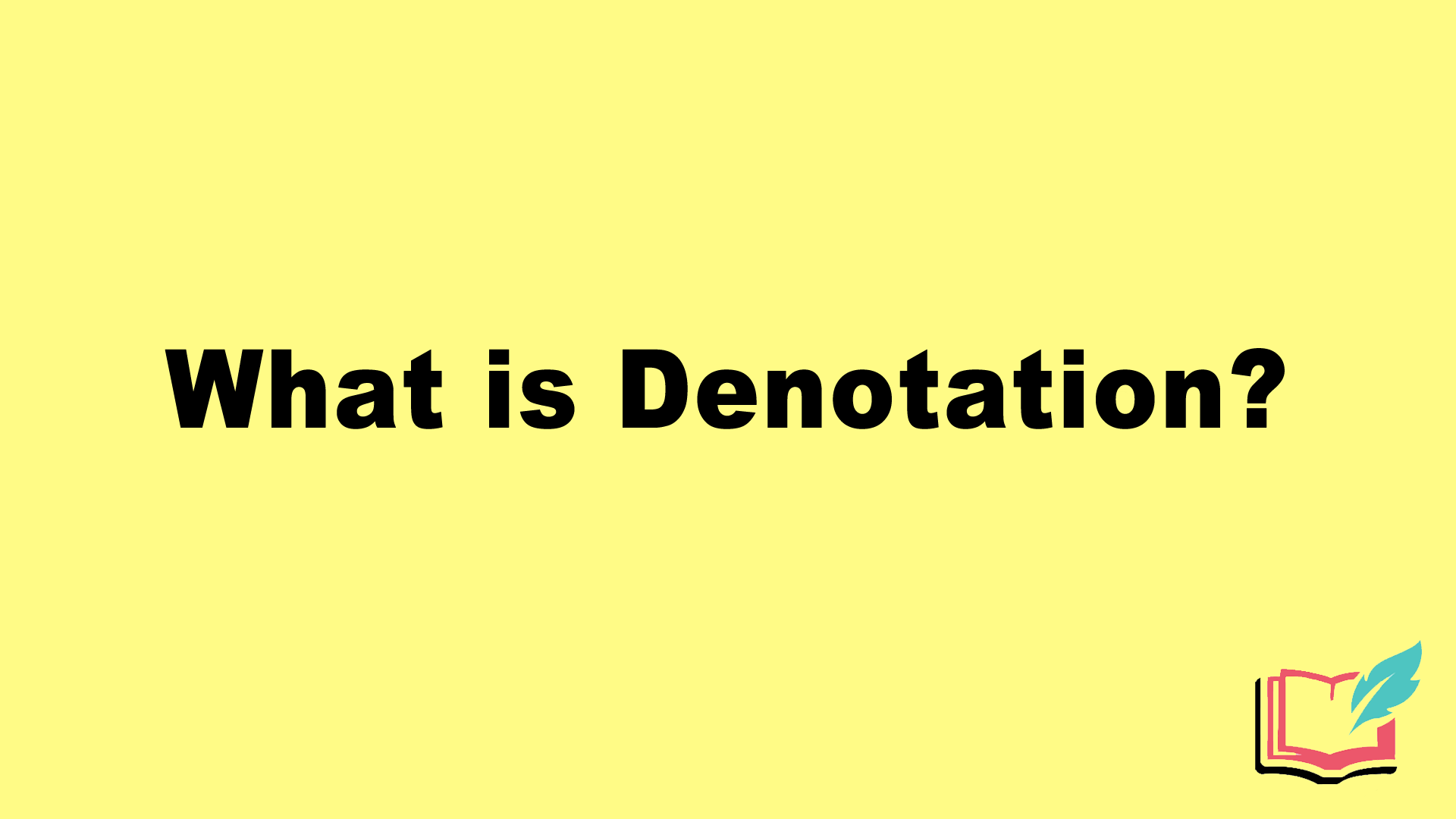 what is denotation literary term