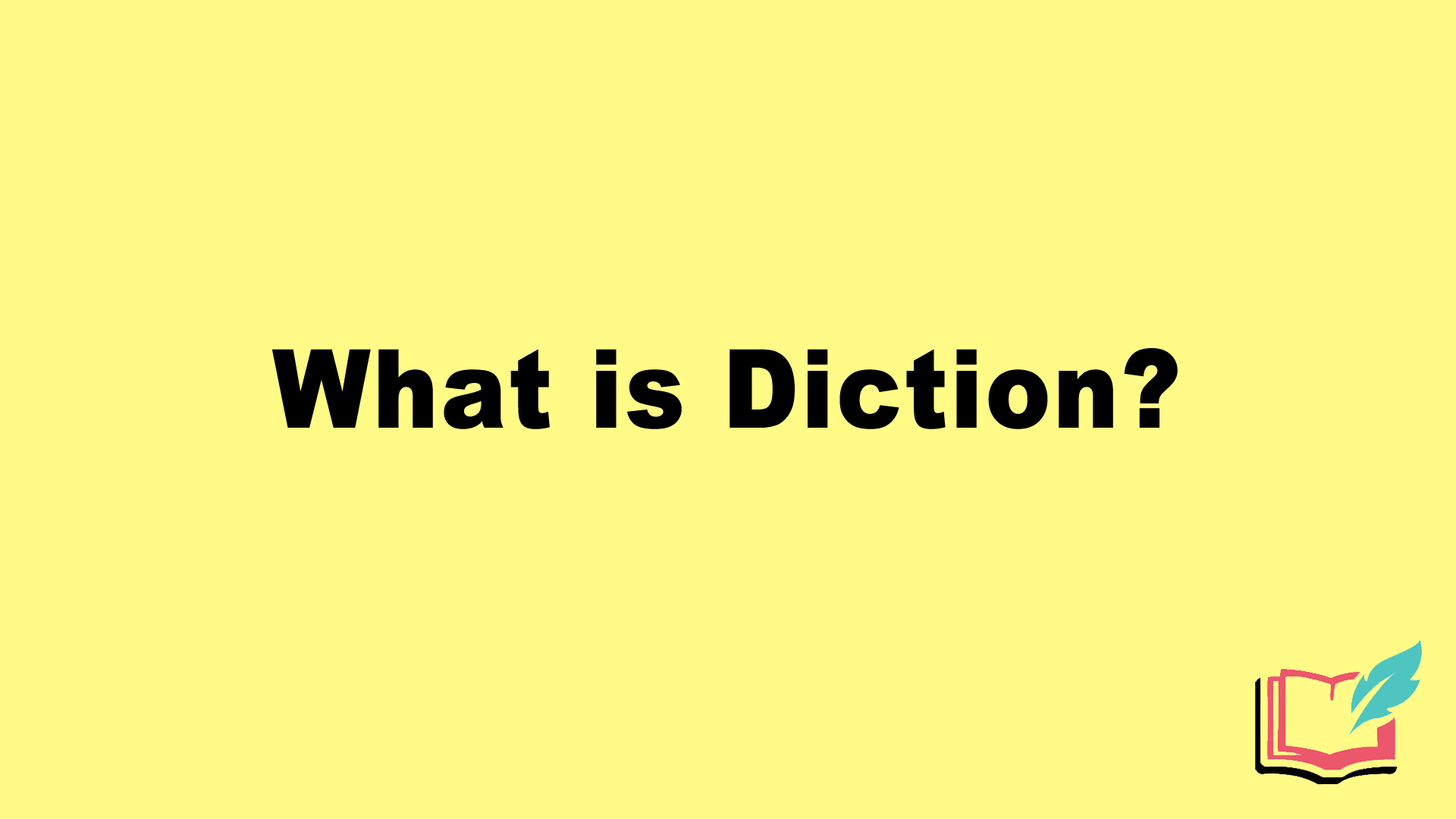 what is diction literary term