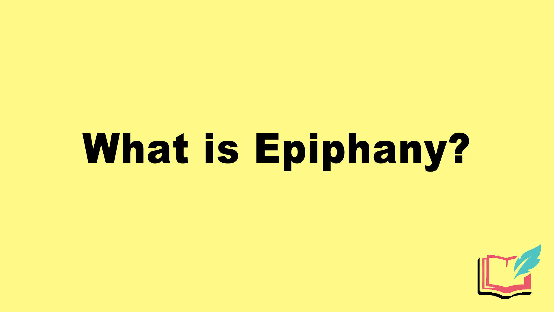 what is epiphany literary term