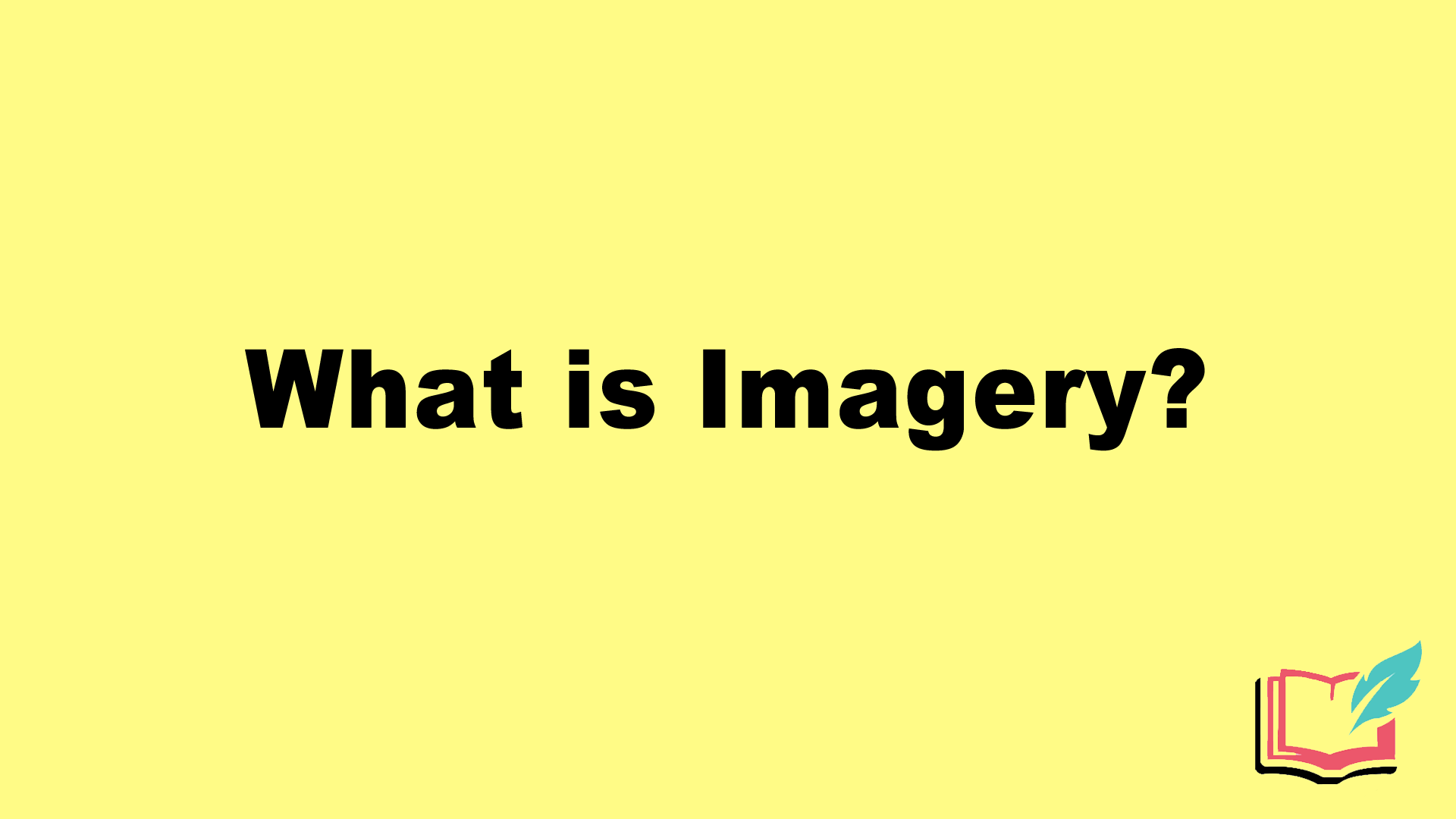 what is imagery in literature