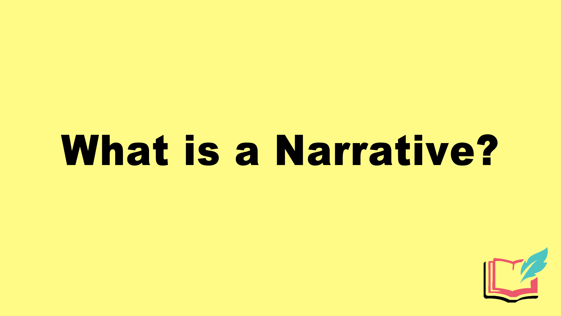 what is narrative literary term