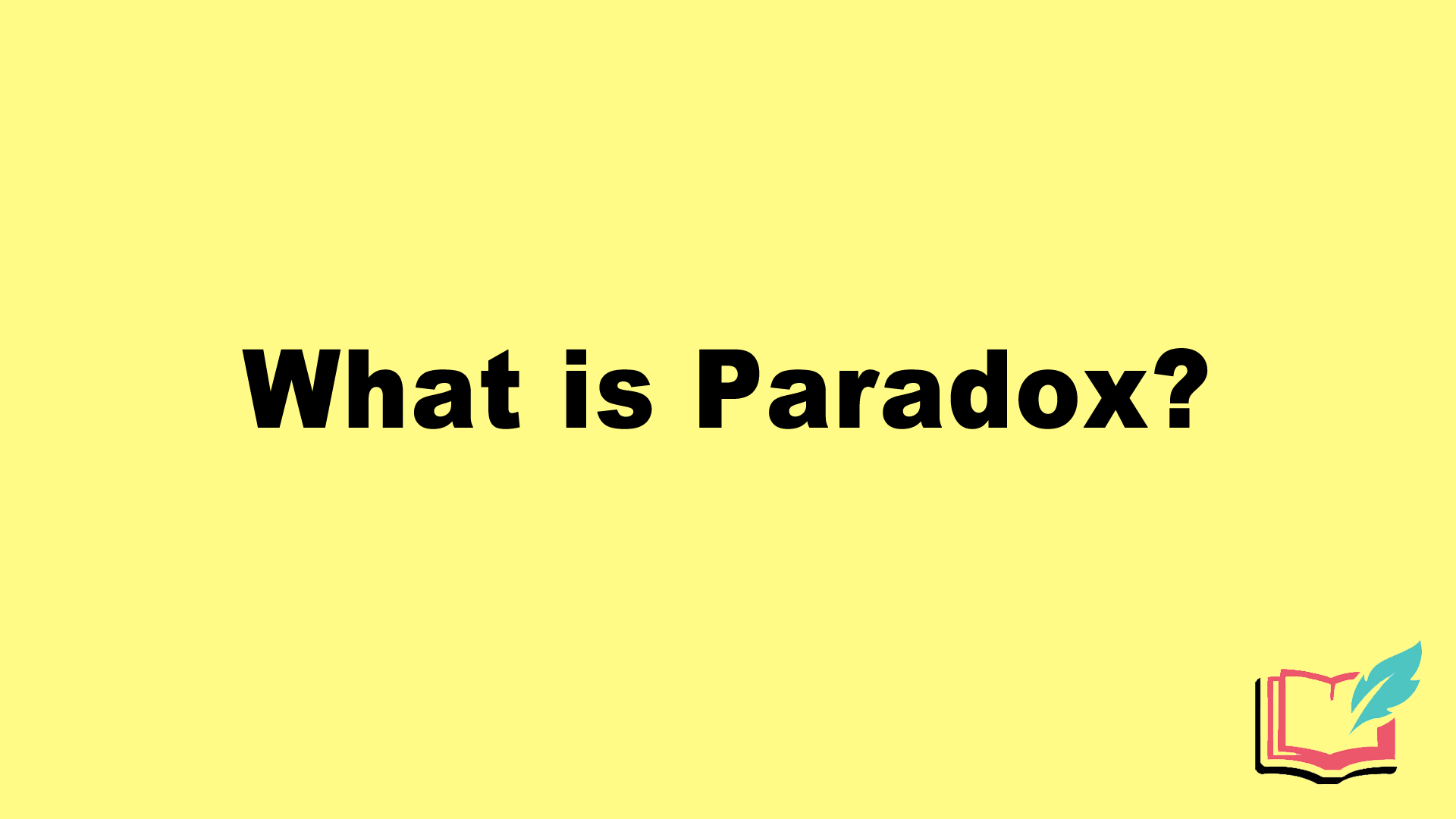 what is paradox literary term