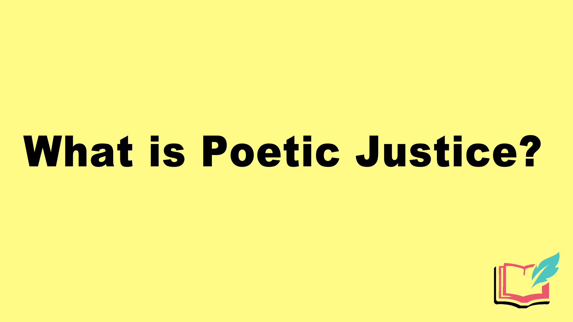 what is poetic justice
