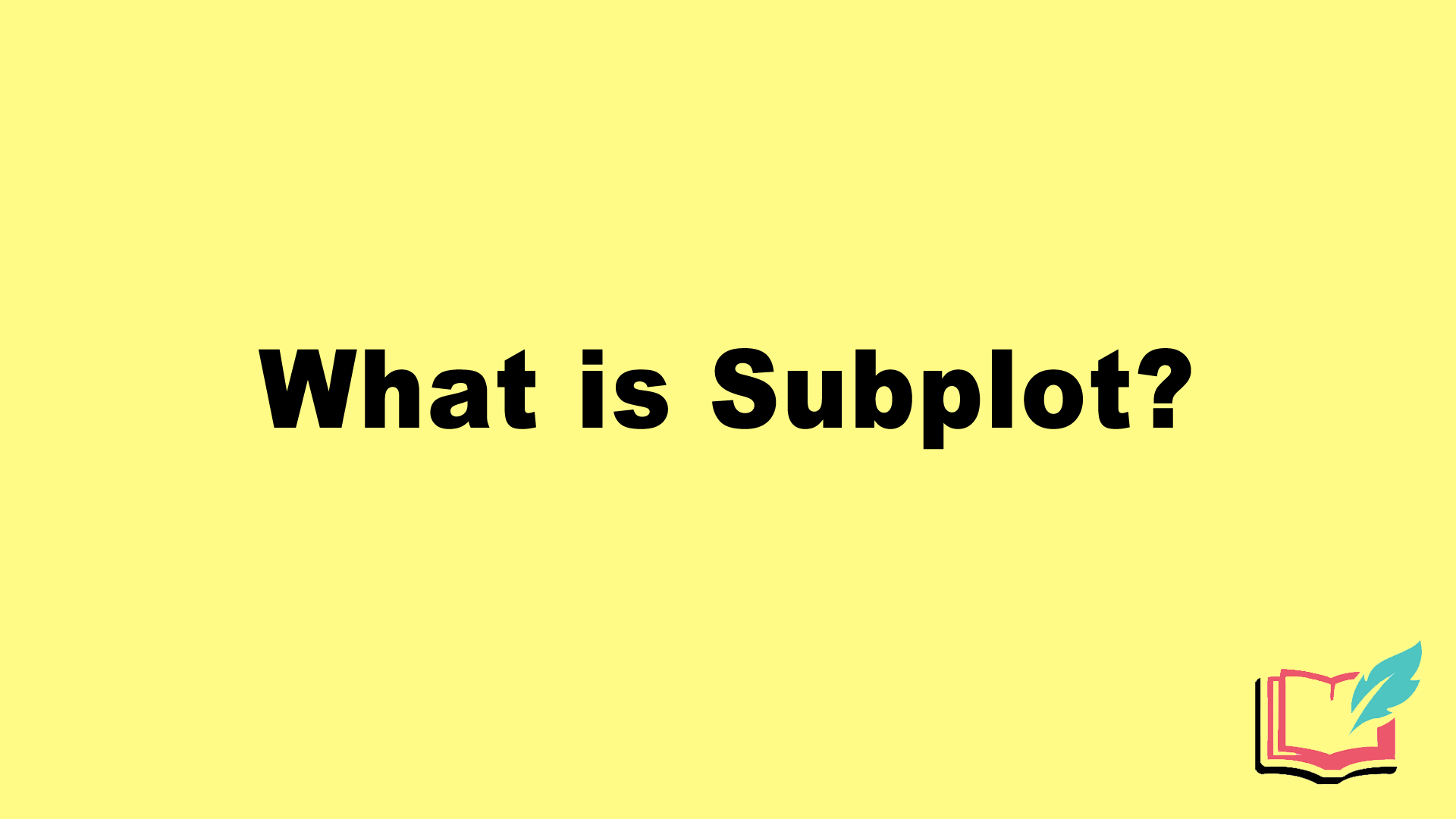 what is subplot literary term