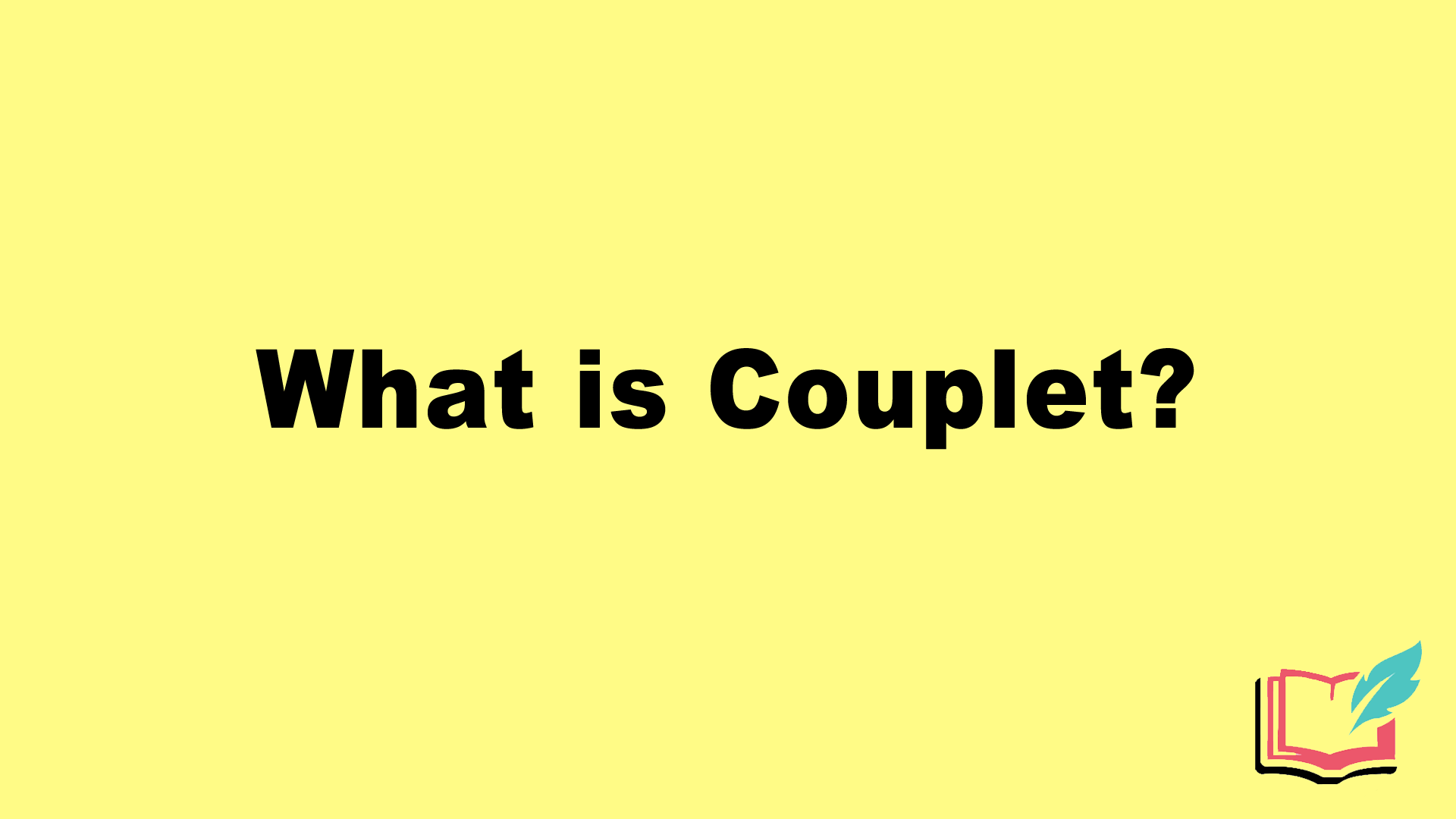 what is couplet in literature