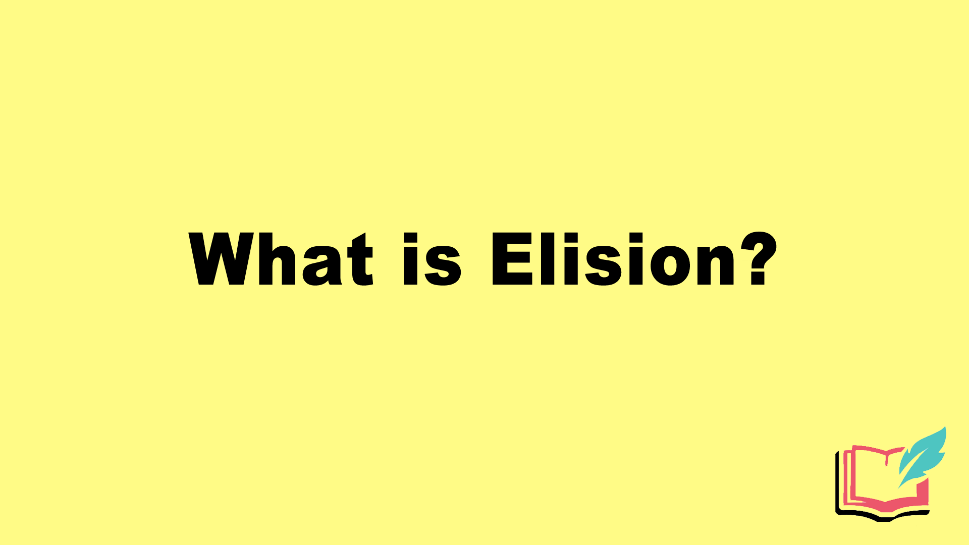 what is elision in literature