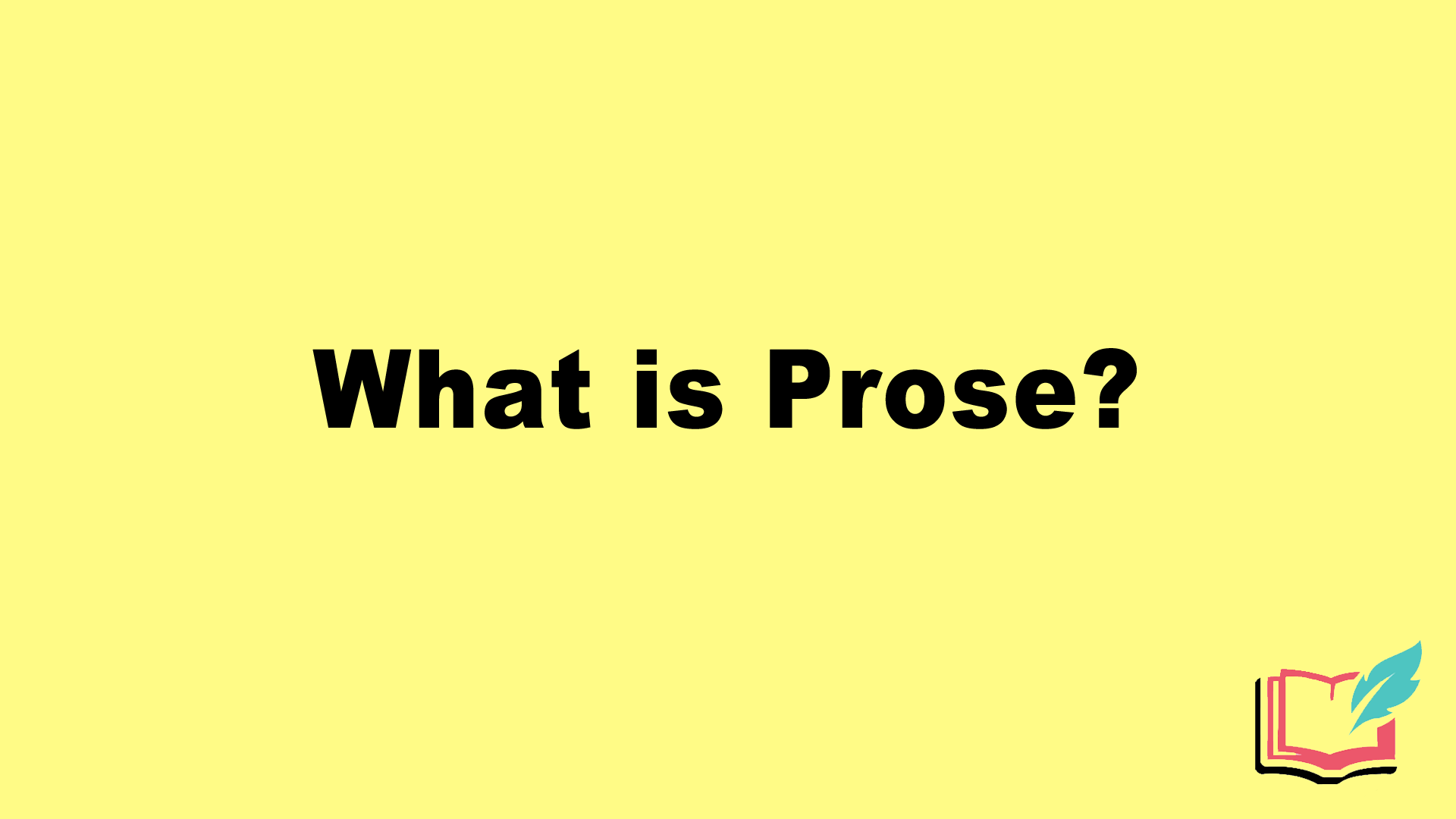 what is prose in literature